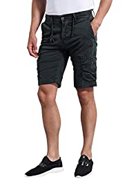 Men's Twill Slim Fit Cargo Shorts