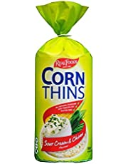 Corn Thins Sour Cream & Chives Corn Cakes, 125g