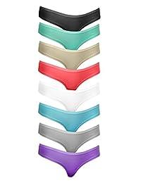 Cotton Whisper Womens Cotton 4-8 Packs Thongs Underwear