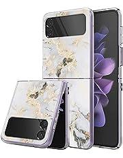niter Kompatibel med Samsung Galaxy Z Flip 3 5G fodral silikon TPU tunt smalt mobiltelefonfodral Z Flip 3 5G skyddsfodral marmorfodral antigult och reptåligt för Samsung Galaxy Z Flip 3 5G fodral