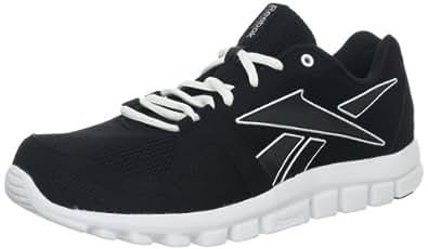 Reebok Men's Your Flex Run 4.0 Running Shoe,Black/White,8.5 M US