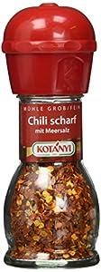 Kotanyi Chili mit Meersalz Mühle, 2er Pack (2 x 34 g)