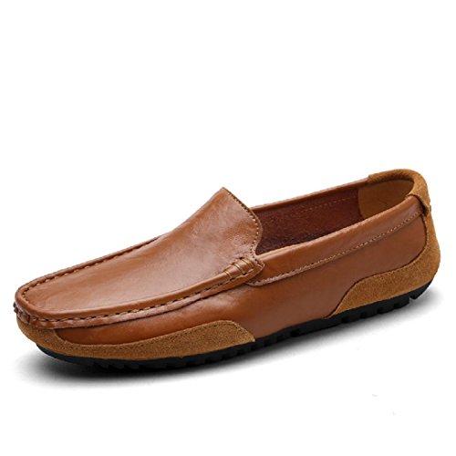 Hombres Zapatos de ocio Respirable parque Casa Cómodo Zapatos casuales Brown