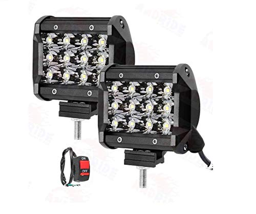 Andride 12 LED Fog Light/Work Light Bar Spot Beam Off Road Driving Lamp 36W Cree -Universal Fitting Good Fit on All…