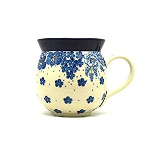 Polish Pottery Mug – 15 oz. Bubble – Blue Bayou