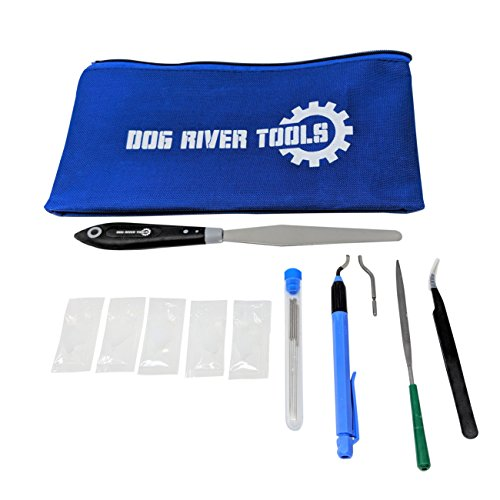 Dog River Tools 3D Printing Tool Kit - Print Removal, Nozzle Cleaning, Cean up, Finishing and Maintenance by Dog River Tools