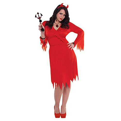 Amscan Adult Red Hot Devil Costume Plus Size