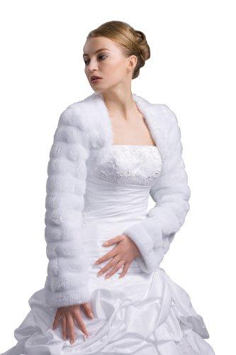 Nina Brautmoden E27-Chaquetas Mujer - Ivory/Champagner