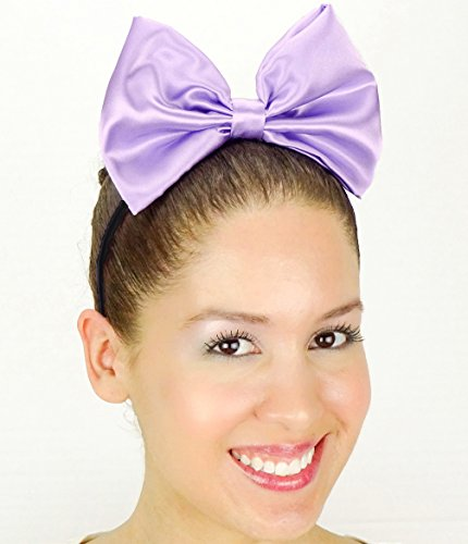 Light Purple Daisy Duck Bow Inspired Headband Handmade Hair Accessory by Sweet in the City ()
