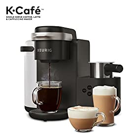 Keurig K-Cafe Single-Serve K-Cup Coffee Maker + Milk Frother, Dark Charcoal