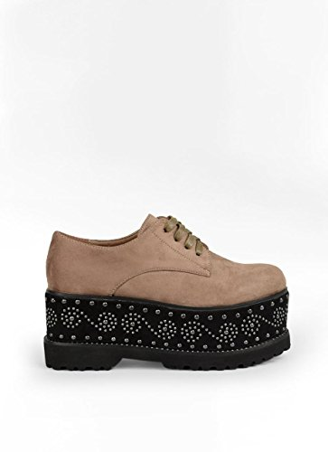 Plataforma Zapato con Taupe BOSANOVA tachuelas de qHOnFSZ