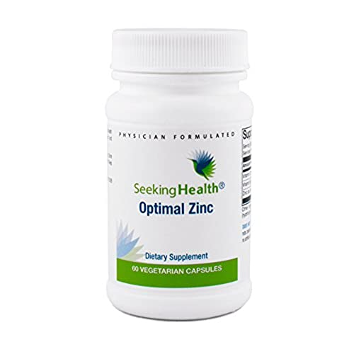 Optimal Zinc | With Vitamin C And Vitamin B6 | 60 Easy-To-Swallow Vegetarian Capsules | Seeking Health