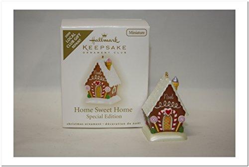 Miniature Gingerbread Houses - Hallmark Keepsake Ornament Club Exclusive Home Sweet Home Gingerbread House Miniature Repaint