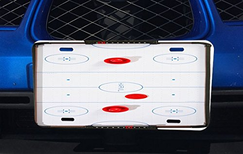 Air Hockey Rink Aluminum License Plate for Car Truck Vehicles