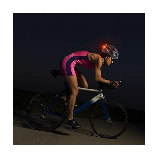 Shinmax Casco Bici con Luce di LED,Certificato CE, Casco con Visiera Magnetica Staccabile Shield Casco da Bici Leggero… 6 spesavip