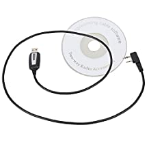 BQLZR USB Programming Cable + CD for BaoFeng UV-5R+ Plus UV-82L GT-3 Ham Two-way Radio