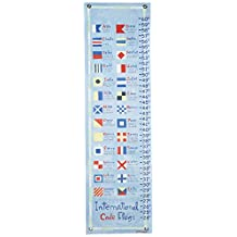 Oopsy Daisy Nautical Flag Growth Chart by Donna Ingemanson, 12 by 42 Inch
