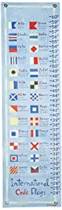 Oopsy Daisy, Fine Art For Kids PE2904 Growth Chart Nautical Flag Growth Chart