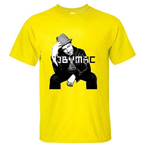 Men's Top Tobymac Hits Deep 2016 Tour Soft Cotton Short Sleeve T-Shirt yellow XXL