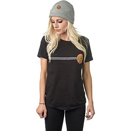 NHS Santa Cruz Classic Dot Fine Girls Jersey T-Shirts,Black,Small