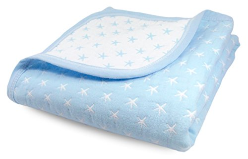 (Cute New York Sweet Dream Blanket/Blue Lightweight All Weather Cotton Jacquard Blanket for Babies and Toddlers)