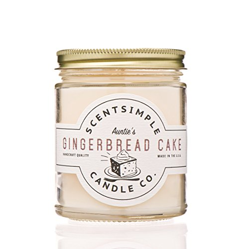 Cake Gift Candle - ScentSimple Candle Scented Soy Candle, Gingerbread Cake