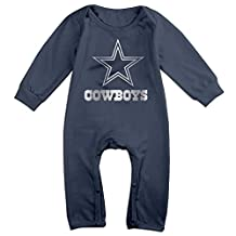 Dallas Cowboys Platinum Logo Unisex Long Sleeve Infant Romper