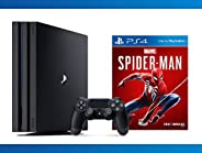Playstation 4 Pro 1TB Console + Marvel's Spider-Man + NBA 2K17 Bundle ( 3 - Ite