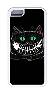 iPhone 5C Case, Personalized Custom Rubber TPU White Case for iphone 5C - Cat Fish Cover