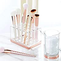 d0f11ebe5e33 mDesign Plastic Makeup Brush Storage Organizer with 15 Slots for ...