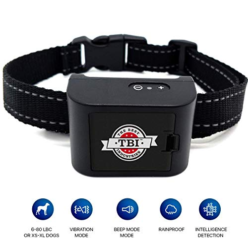 Cheap TBI Pro [New 2019] Humane Dog Bark Collar – Anti Barking Collar – Vibration No Shock Dog Collar – Stop Barking Collar for Small, Medium Dogs 6lbs-80lbs – Best No Barking Control Dog Collar