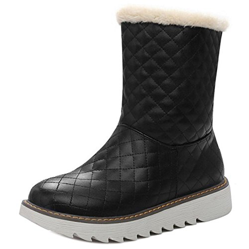 Women Pull On Boots Black Warm COOLCEPT Lined awqd1fE