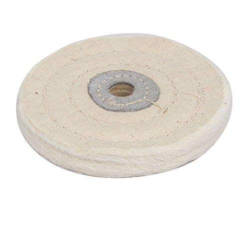 eDealMax 4 pulgadas de diámetro 50 Plies Forma Redonda de pulido Para pulir de Tela Blanca Rueda Taladro Grinder: Amazon.com: Industrial & Scientific