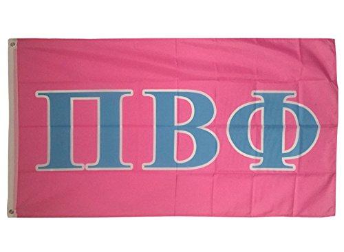 Pi Beta Phi Light Pink/Light Blue Letter Sorority Flag Greek
