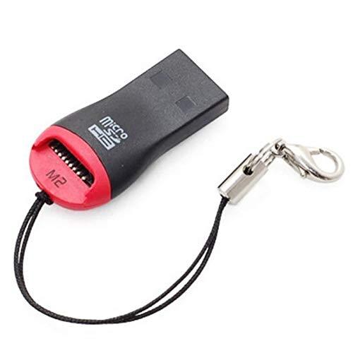 Niuta SD Card Reader Portable USB 2.0 Flash Memory Card Adapter Hub for TF, SD, Micro SD, SDXC, SDHC, MMC, RS-MMC, Micro SDXC, Micro SDHC, UHS-I for Mac, Windows, Linux, Chrome, PC, Laptop