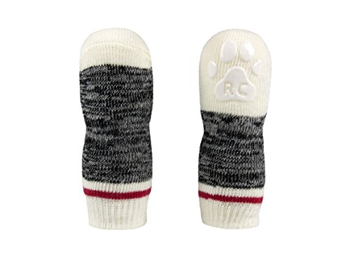 RC Pet Products Pawks Dog Socks, Medium, Black Melange by RC Pet Products