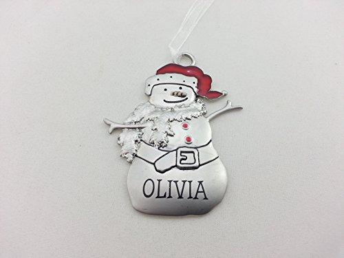 d Metal Snowman Christmas Ornament - Olivia ()