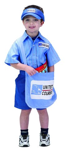 Postman Hat Costume (Jr Mail Courier w/ Visor Child Costume Size 8-10 ((DA11)))