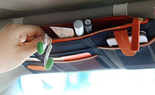 YARUIE 1 Stück Mode Multifunktions Auto PKW KFZ Sonnenblende Tasche Organizer Halter dunkleblau