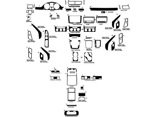 Applique Carbon Fiber - Rdash Dash Kit Decal Trim for Volkswagen Passat 2006-2010 - Carbon Fiber 4D (Black)