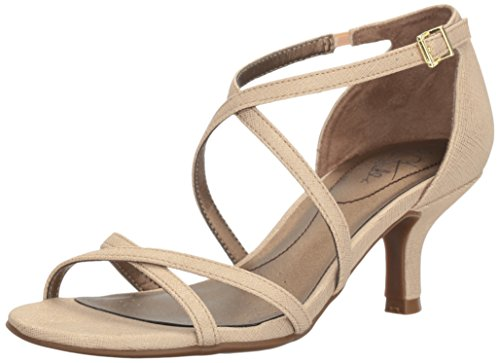 - LifeStride Women's Flaunt Dress Sandal, Soft Gold, 6.5 M US