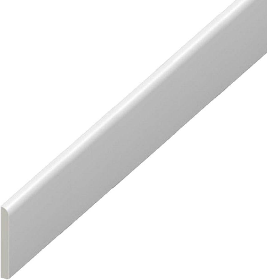 Borde de pl/ástico de UPVC rodapi/é blanco Architrave y borde de acabado de ventana