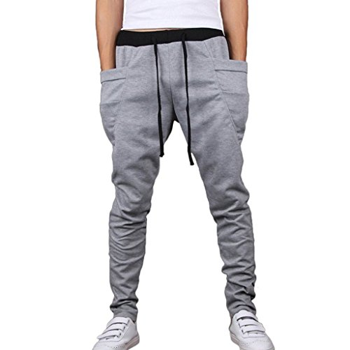 Rita.MK Men's Casual Jogging Sweatpants Harem Pants (Mens Xs Sweatpants)