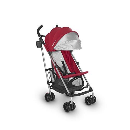 2018 UPPAbaby G-LITE Stroller- Denny Red Silver