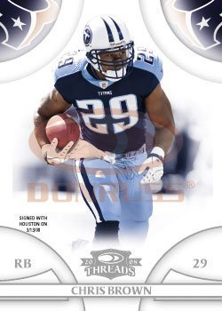 Chris Brown - RB- Tennessee Titans - 2008 Donruss Threads - NFL Football - Brown Rb Chris