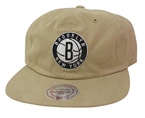 on sale 0a3c1 2b550 Mitchell   Ness Men s Brooklyn Nets Low Profile Self Fabric Adjustable  Strapback Hat