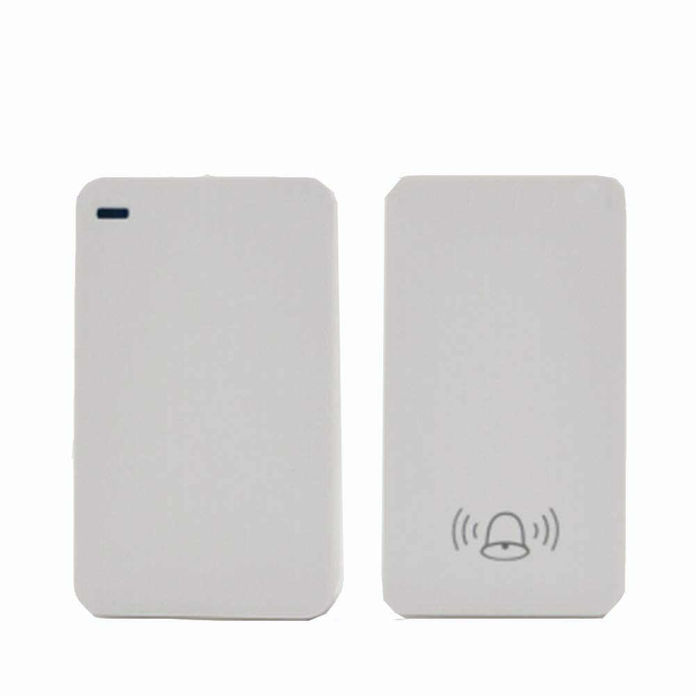 Home Wireless Doorbell, Plug-in Receiver + Transmitter (Self-Powered), ABS Material, Family Company