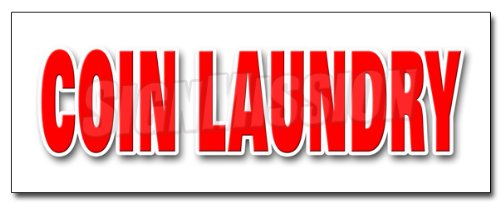 "36"" COIN LAUNDRY DECAL sticker wash fold washing machines dry cleaning"