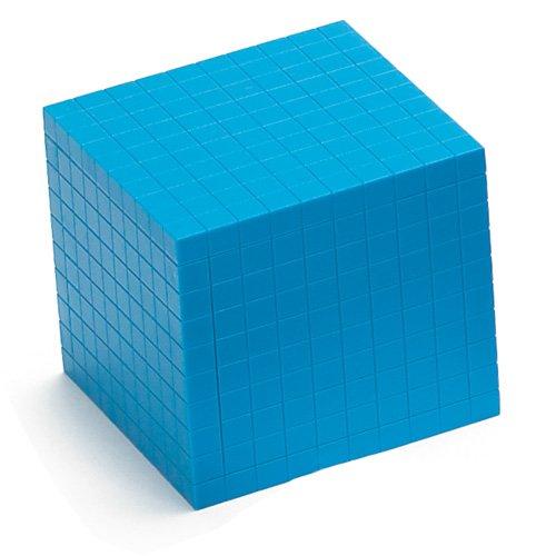 EAI Education Base Ten Thousand Cube: Blue Plastic ()