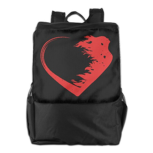 Bekey Adult Love Warrior Heart Outdoor Travel Hiking School Trekking Camping Backpack - Blog Rihanna